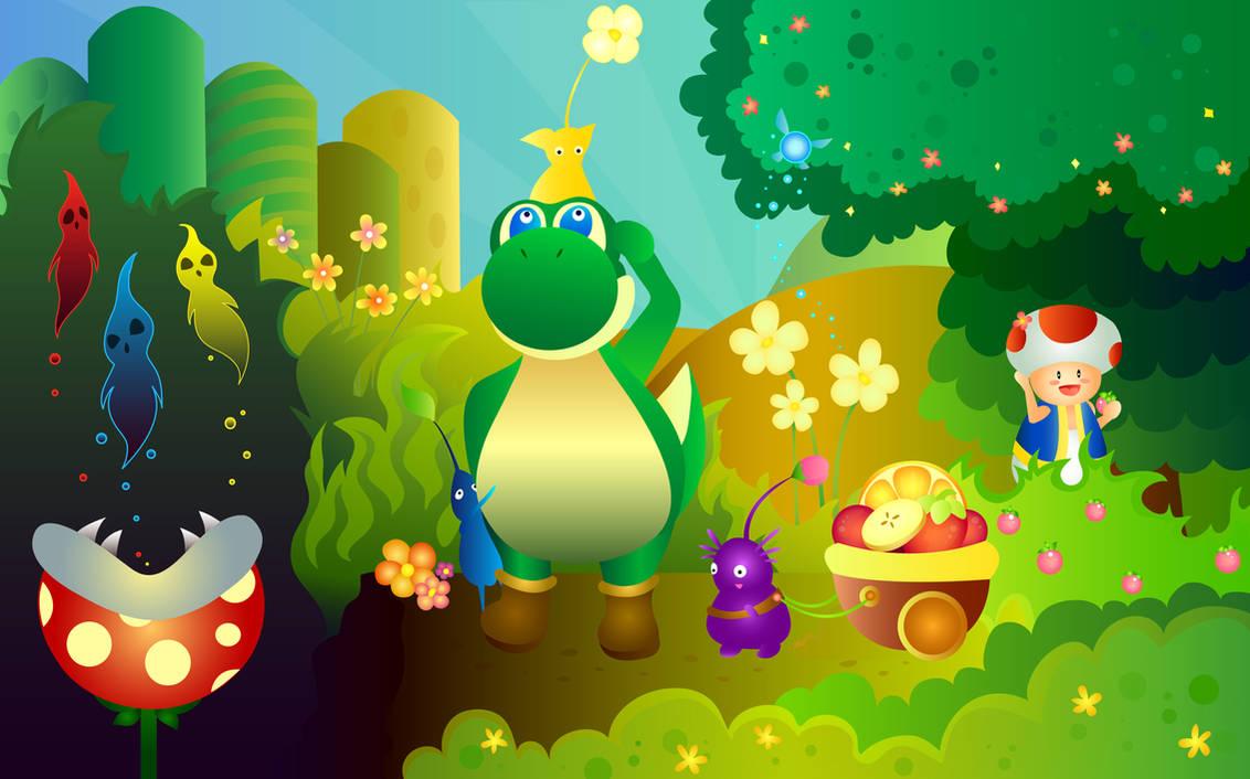 Nintendo Forest by shiropanda