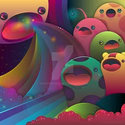 Interstellar Friends by shiropanda
