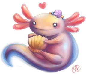 Axolotl by shiropanda