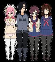 Miyoo + Friends (Standard Exports) by booboochoo