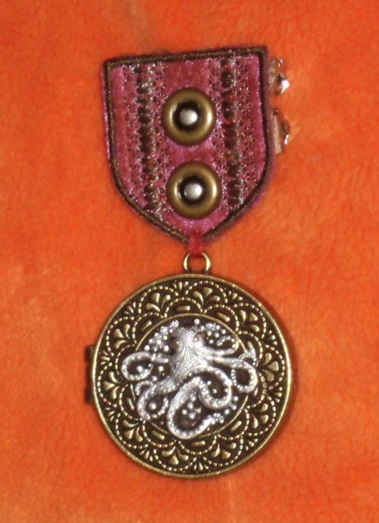 Crimson Silver-Cored Cthulhu War Medal 1 by Windthin