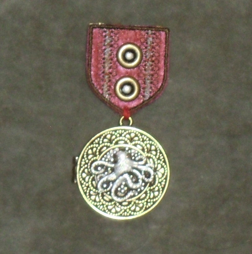Crimson Silver-Cored Cthulhu War Medal 2 by Windthin