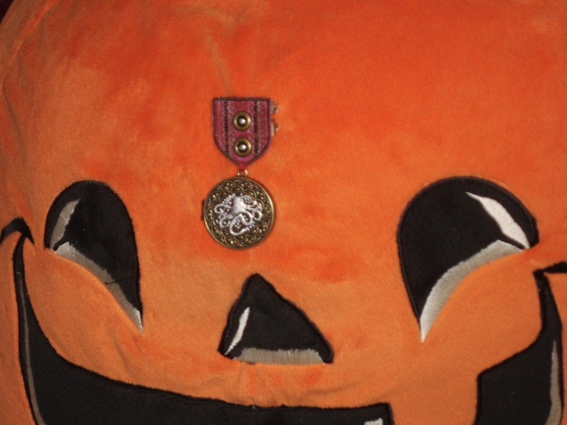 Crimson Silver-Cored Cthulhu War Medal 3 by Windthin