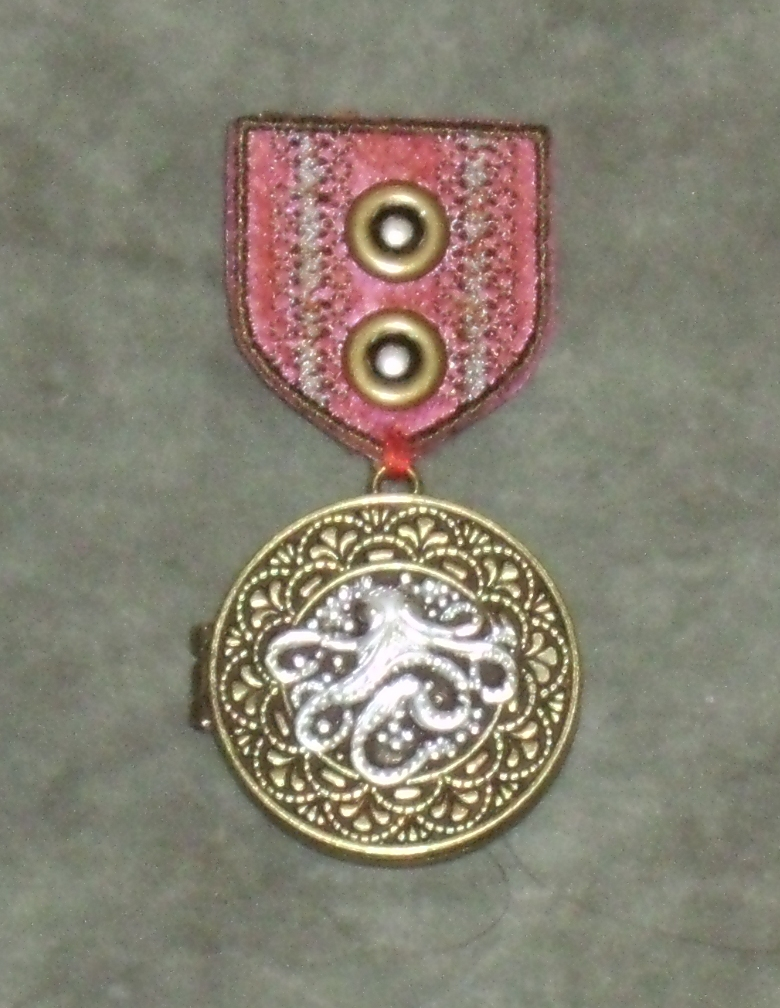 Crimson Silver-Cored Cthulhu War Medal by Windthin