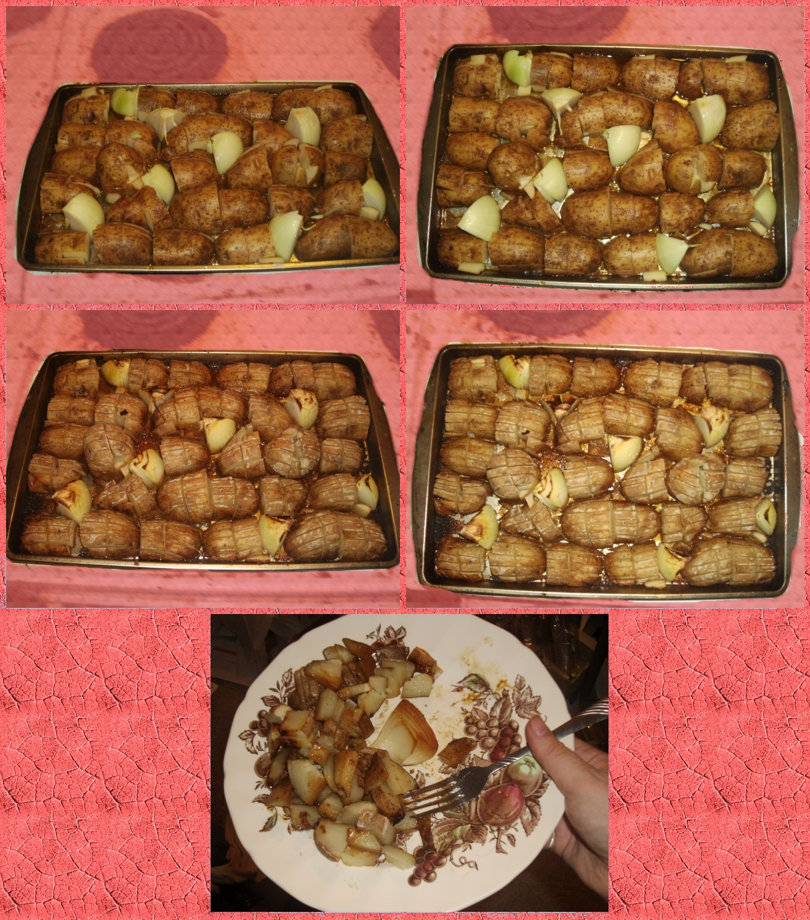 Savory Oven Roasted Potatoes and Onions by Windthin