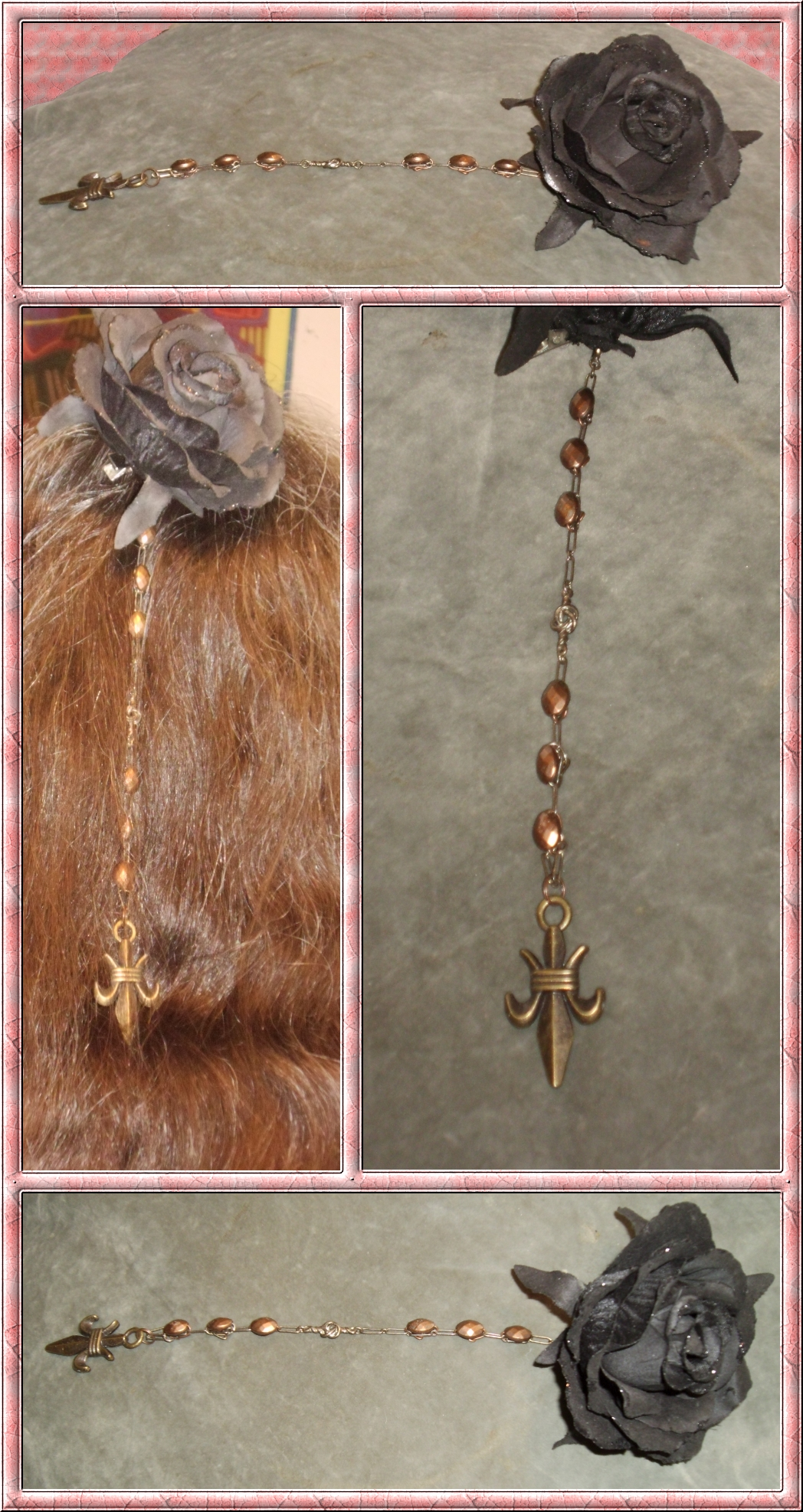 Copper Fleur-de-Lis Hair Decoration 4 by Windthin