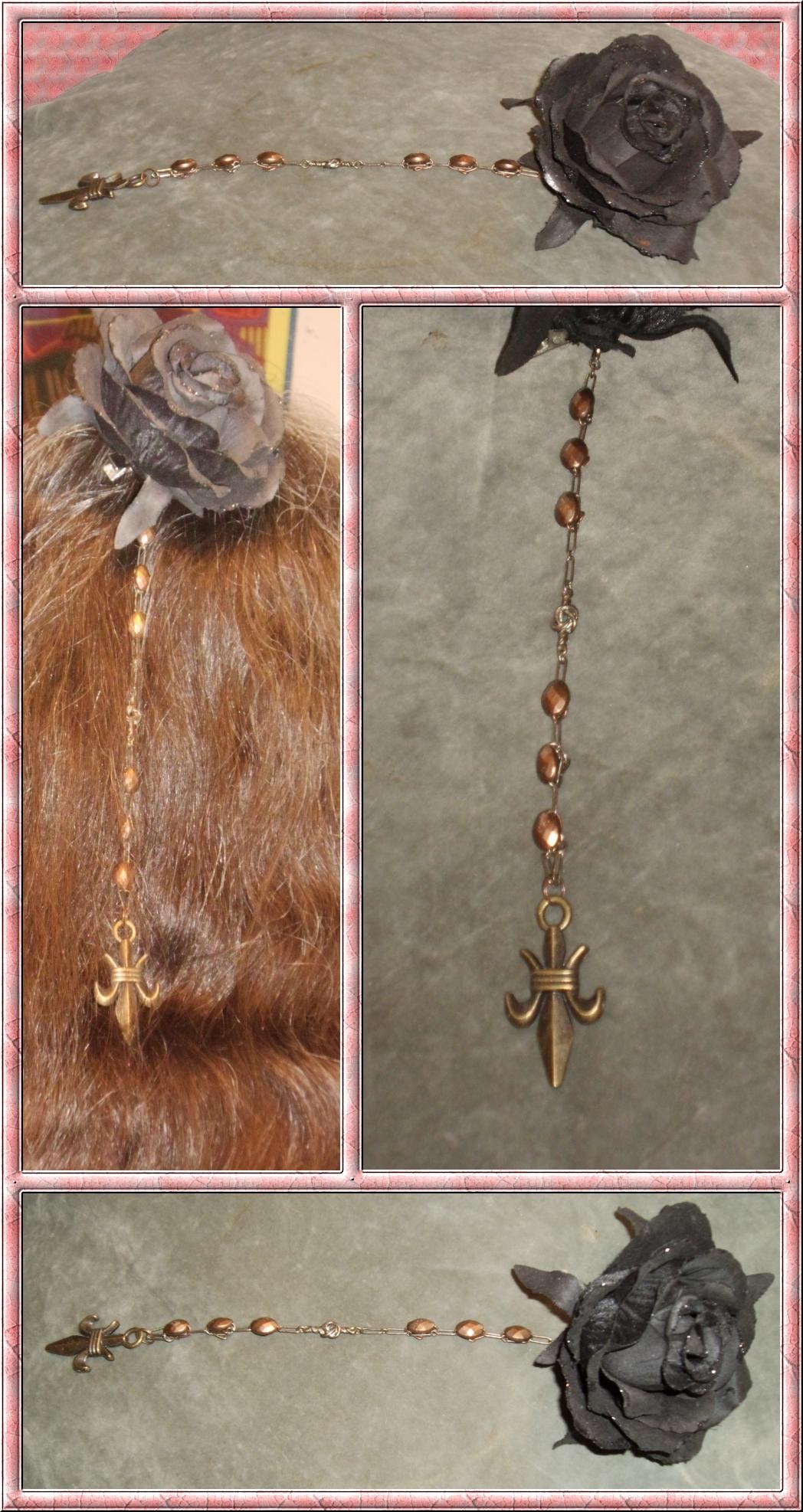 Copper Fleur-de-Lis Hair Decoration 4 by Windthin