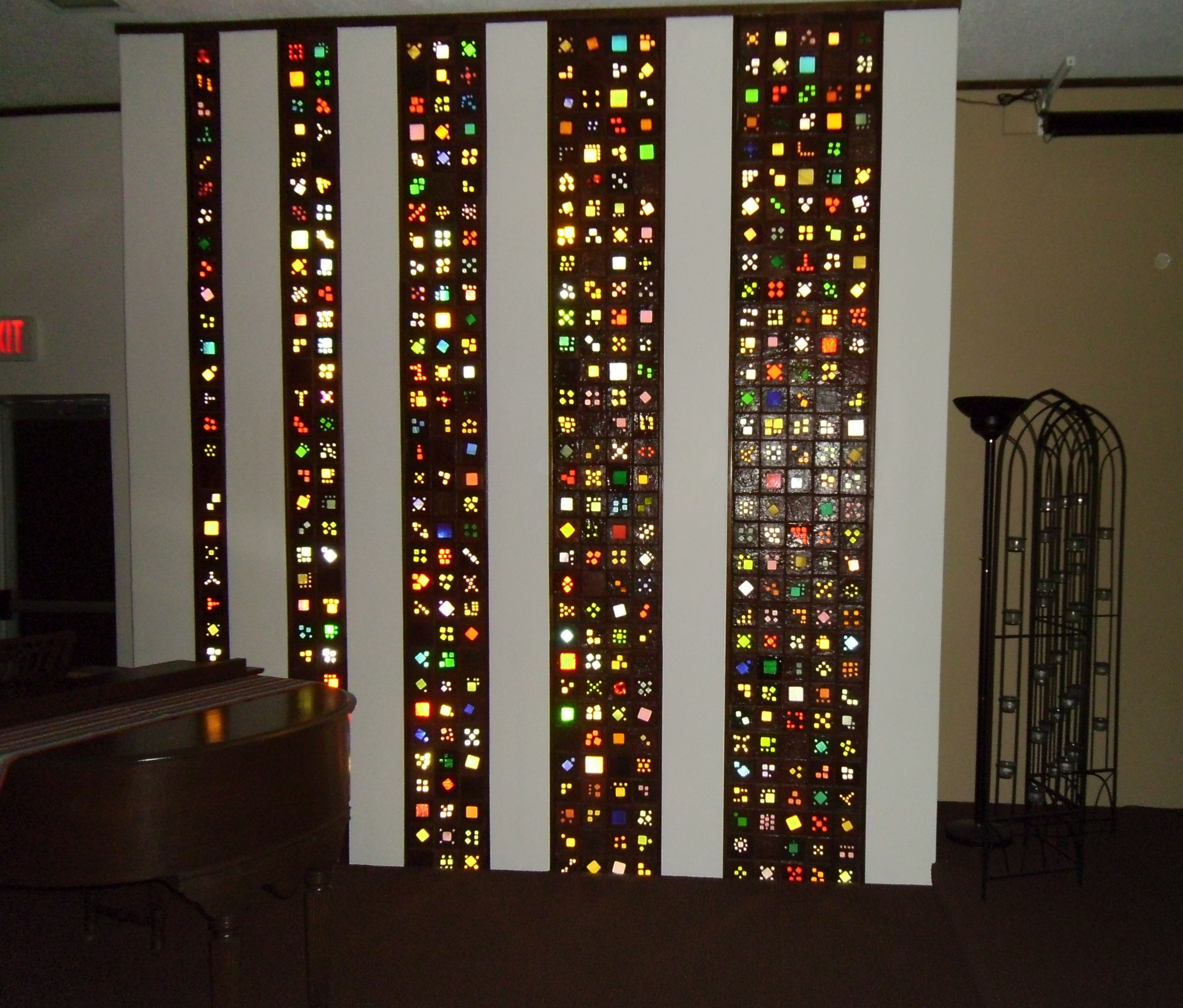 Stained Glass Tile Columns 1 by Windthin