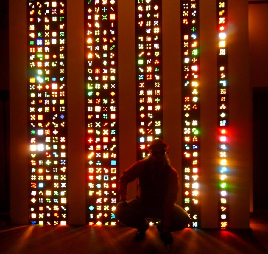 Lite-Brite Matrix Stained Glass Tile Columns 9