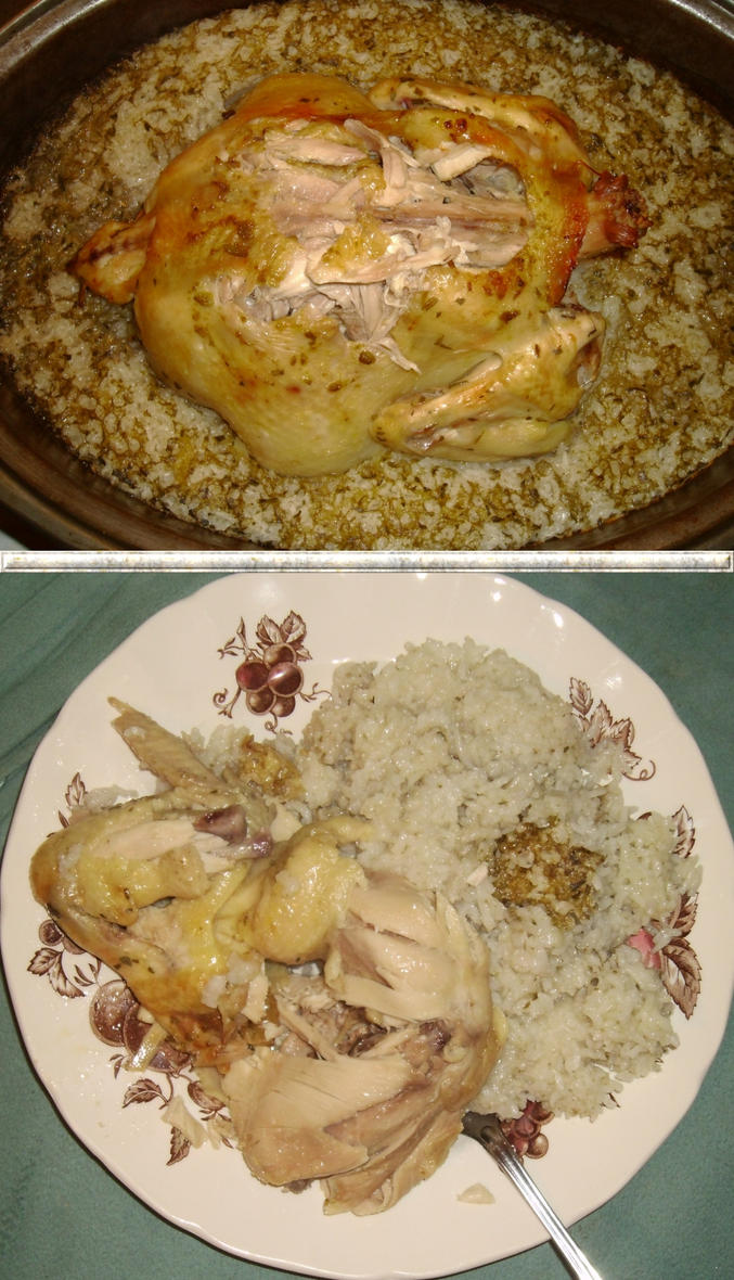 Citrus-Coconut Chicken and Rice by Windthin