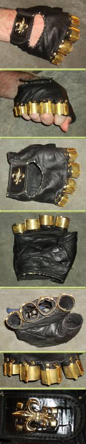 Steampunk Brass Knuckles Glove