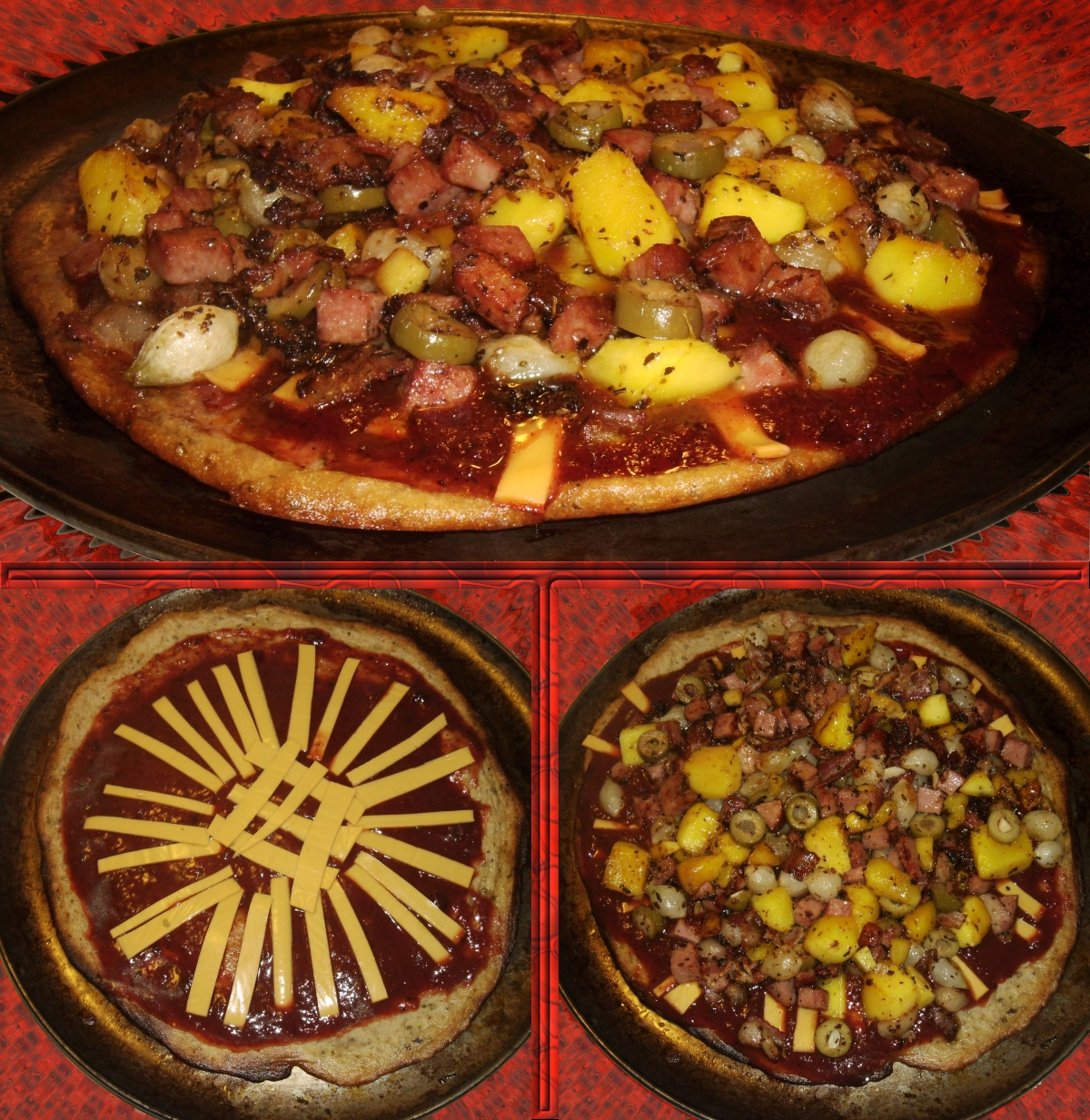 criminara bacon turkey ham mango green olive pizza by windthin on deviantart. Black Bedroom Furniture Sets. Home Design Ideas