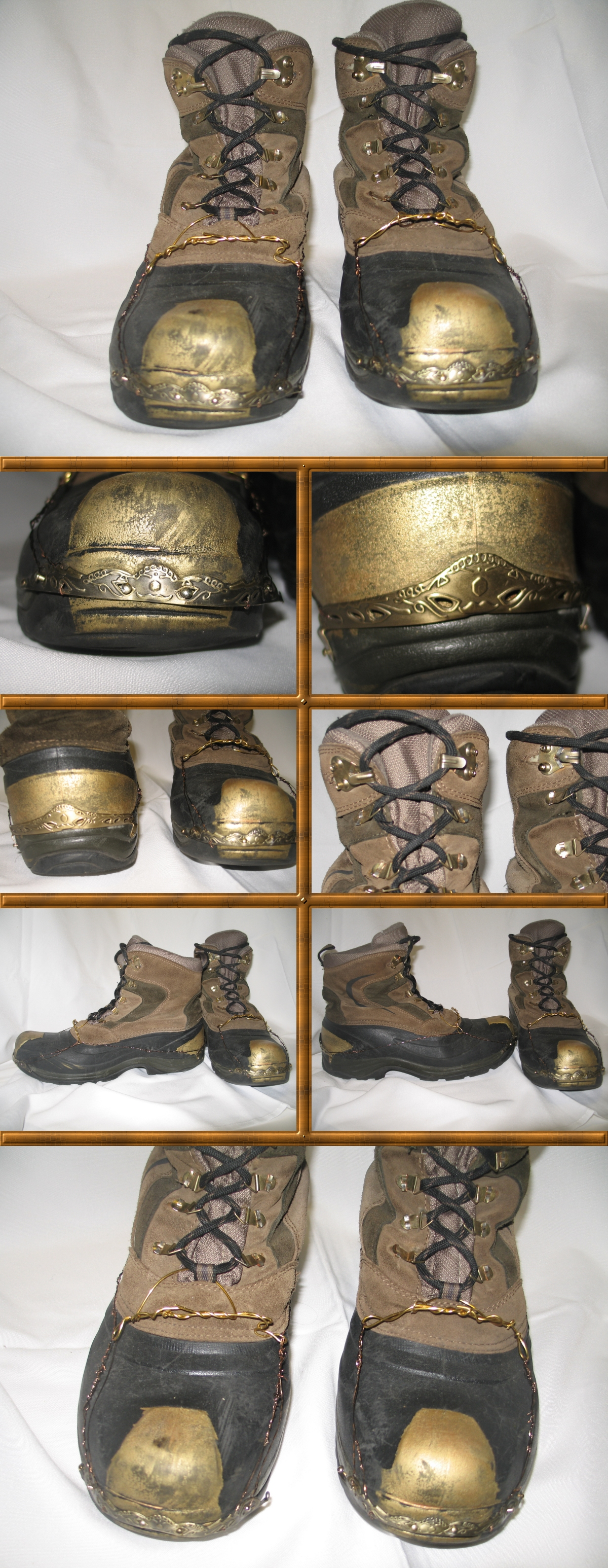 WIP - Steampunk Brass-Fitted Boots Part 3 by Windthin