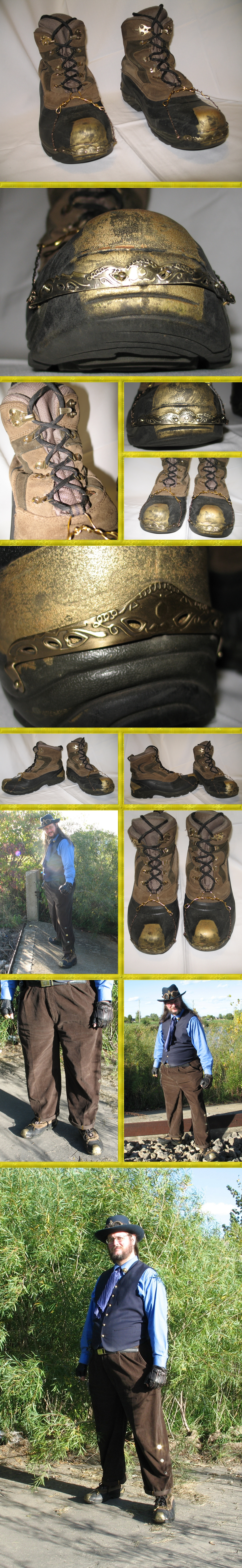WIP - Steampunk Brass-Fitted Boots Part 4 by Windthin