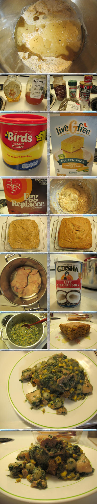 Creamy Chicken over Savory Gluten-Free Cornbread by Windthin