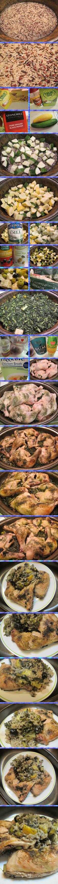 Mediterranean Roast Chicken and Rice