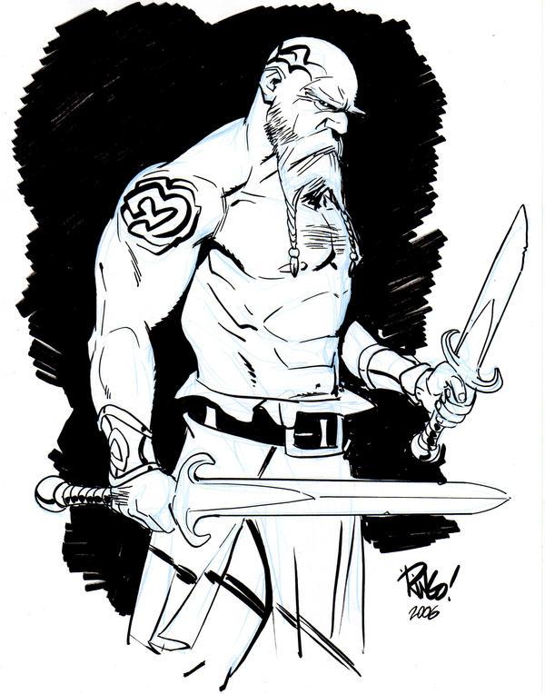 Tatooed warrior by Wieringo