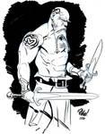 Tatooed warrior