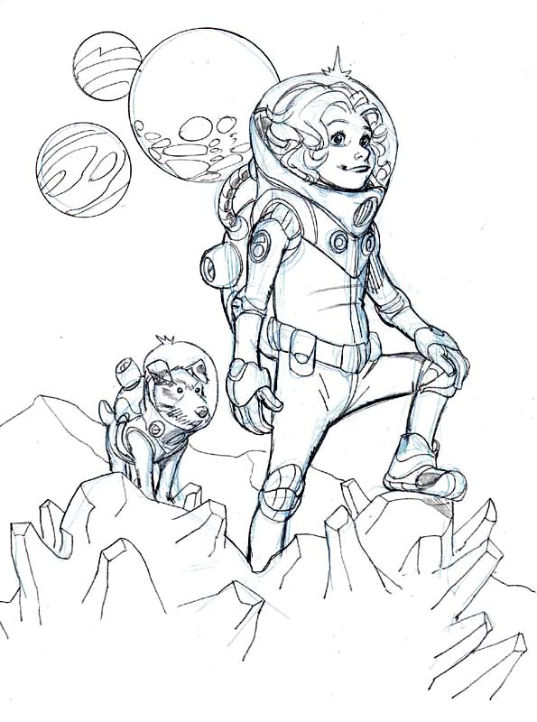 SPACE GIRL by Wieringo