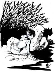 GIRL with WOLF by Wieringo