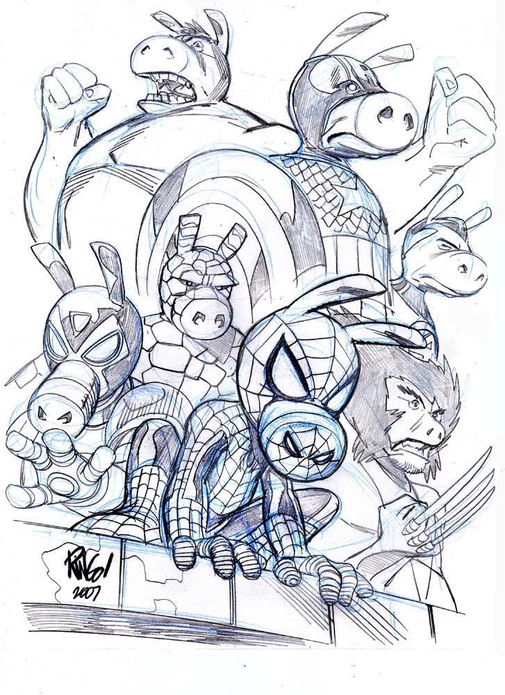 ULTIMATE SPIDER-HAM by Wieringo