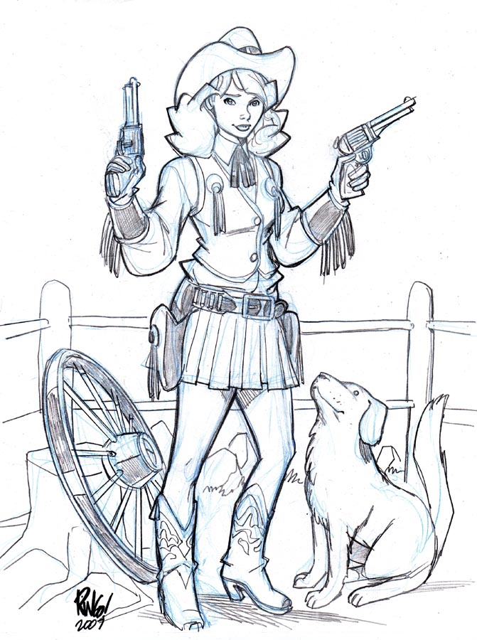 cow girl by wieringo