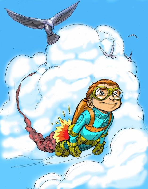 FLYBOY in color by Wieringo