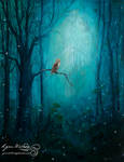 Study 3, forest, owl
