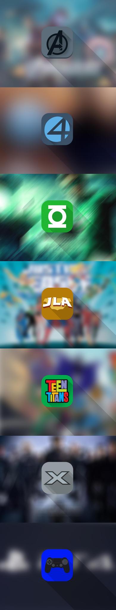 SuperHero Groups Identity Icons by iftikhar110