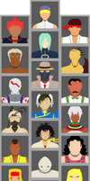 Select Your Character: SF3 3rd Strike by FGVectors