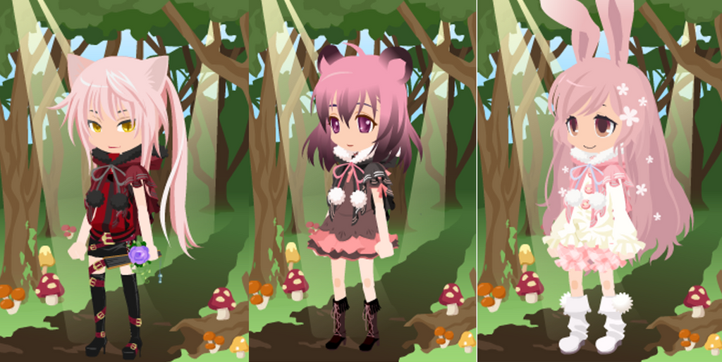 Dream Selfy Free Adopts: Animal eared girls by SeitoAnna