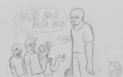 BrainScratch Doodles - BALD! by ADHedgehog