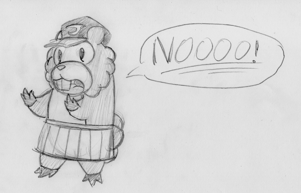 BrainScratch Doodles - Teddy Bidoof by ADHedgehog