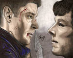 SuperLock (Dean + Demon!Sherlock) [Colour Version]