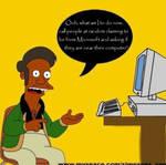 Apu Contemplates Unemployment