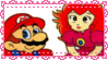 Mario and Peach Stamp by Misses-Weasley