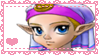 OoT Young Zelda Stamp by Cicadaem0n