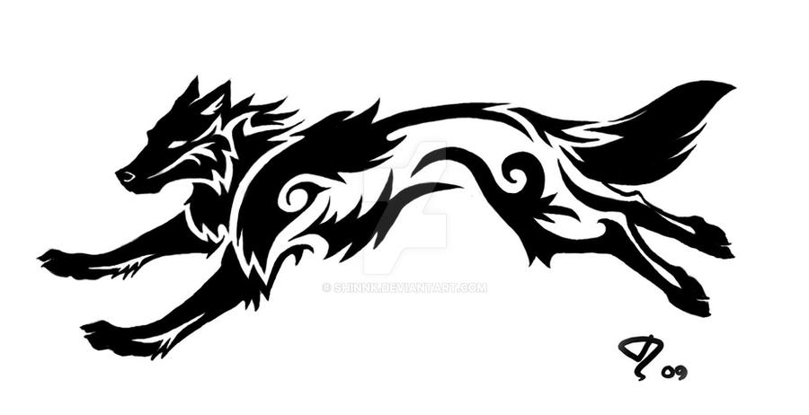 Commission Tribal Wolf Tattoo By Shinnk On DeviantArt