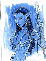 Neytiri Avatar watercolor by MichaelDooney