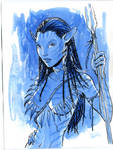 Neytiri Avatar watercolor