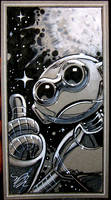 Fugitoid con drawing by MichaelDooney