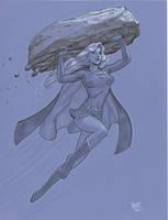 Supergirl marker con sketch by MichaelDooney