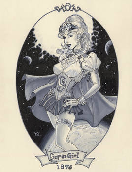 Steampunk Supergirl 1876