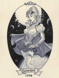 Steampunk Supergirl 1876 by MichaelDooney