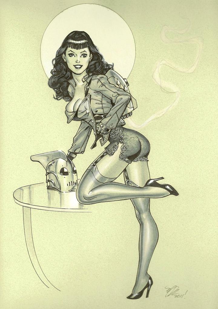 Bettie Page Rocketeer by MichaelDooney