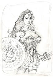 Wonder Woman pencils by MichaelDooney
