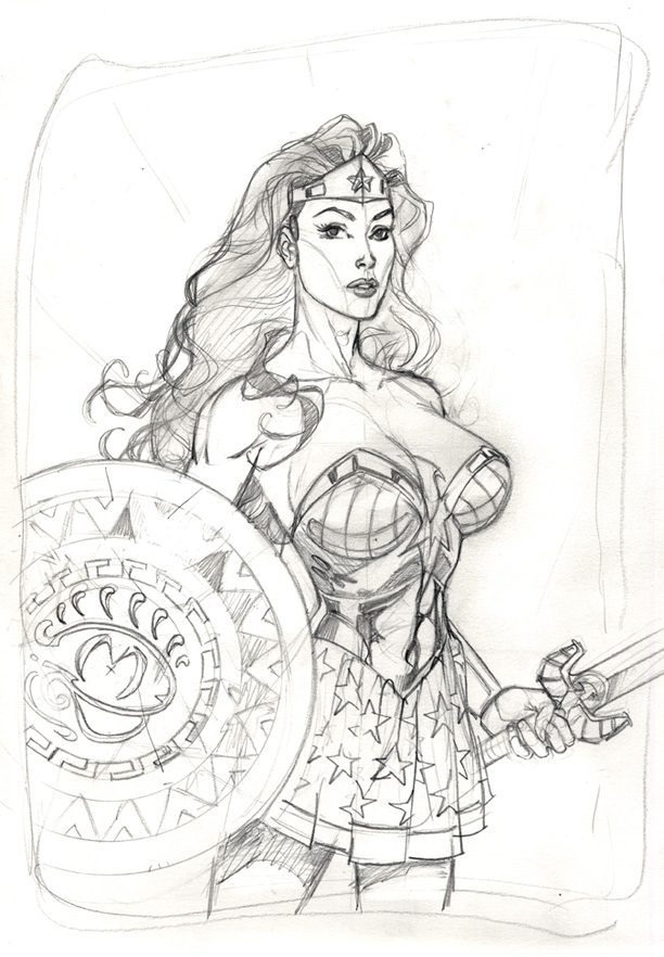 Wonder Woman pencils by MichaelDooney