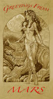 Dejah Thoris print by MichaelDooney