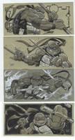 tmnt con sketches by MichaelDooney