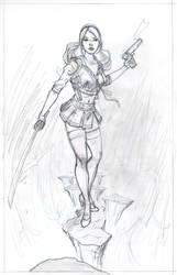 baby doll sucker punch commission pencils by MichaelDooney